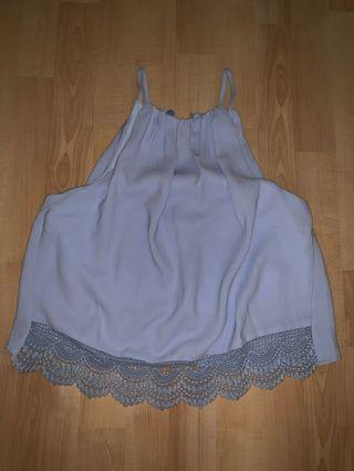 the tinsel rack blue cornflower top