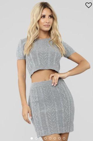 Fashion Nova 2 piece skirt set