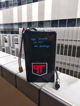 52v Custom build batteries