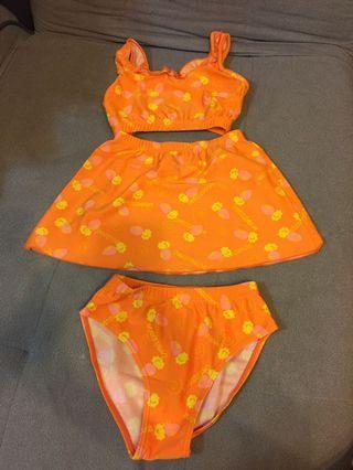 [雙畇媽咪]二手 女童 連身泳衣 衣標145-155