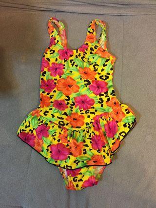 [雙畇媽咪]二手 女童 連身泳衣 衣標XL
