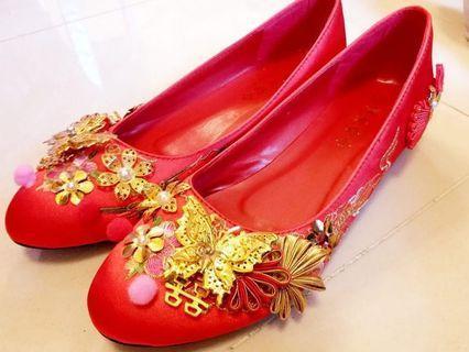 ❤️名牌紅雙囍中式褂鞋