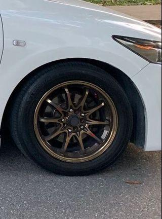 "Volks Racing CE28 16"" Rims and Tyre"