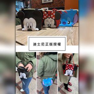 🚚 現貨-迪士尼🎀正版授權 米奇/米妮/史迪奇 斜背小包/肩背包/側背包(鐵鍊可拆)