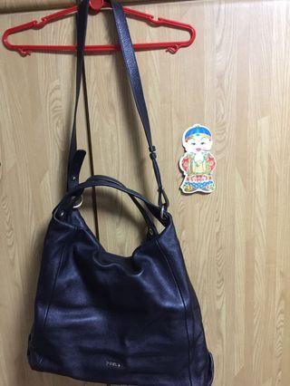 Furla leather shoulder/hobo bag
