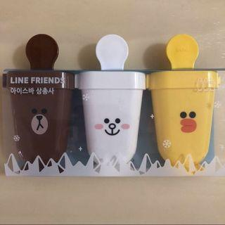 BN 🍦LINE FRIENDS🍦 Brown, Cony & Sally 3-in-1 Ice Cream/ Fruits Popsicles Makers/ Molds/ Moulds Set (70mL)