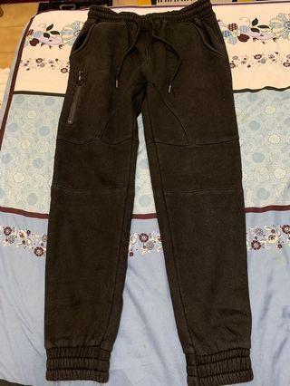 黑色棉褲 窄管 合身