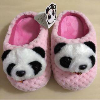 BN 🐼LONGBO COLLECTION🐼 Girls' Pink Panda Plush Baby/ Toddlers/ Children/ Kids Anti-Slip Bedroom/ Night Shoes/ Slippers