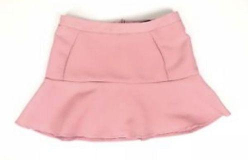 🚚 Zara trf terra-cotta flounce style mini skirt in Sz M