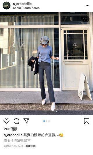 🚚 木卯 柳葉魚  灰色西裝褲