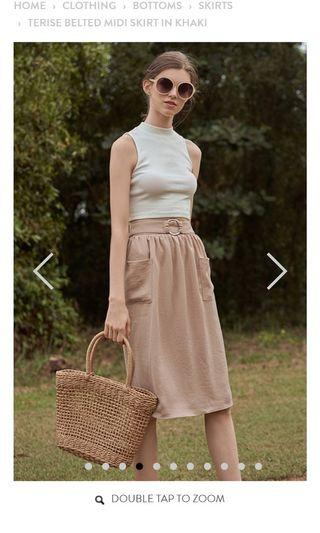 🚚 The closet lover midi skirt with pocket
