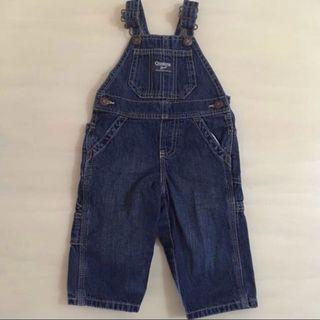 👖OSHKOSH BGOSH👖 Authentic Baby's/ Toddler's Denim Long Pants Shortall/ Jumper/ Jumpsuit/ Romper (Size: 9M)