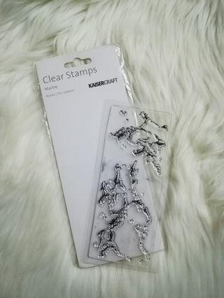 Clear stamp kaisercraft marble