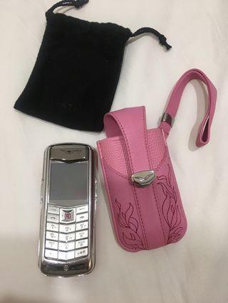 Authentic Vertu Constellation Pink Phone