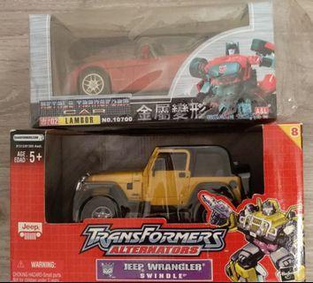 TF - 變形金剛 Transformers Jeep Wrangler Swindle & Lambor