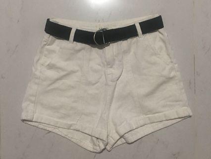 White denim shorts #ENDGAMEyourEXCESS