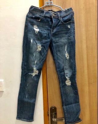 Ripped Jeans navy EXPRESS