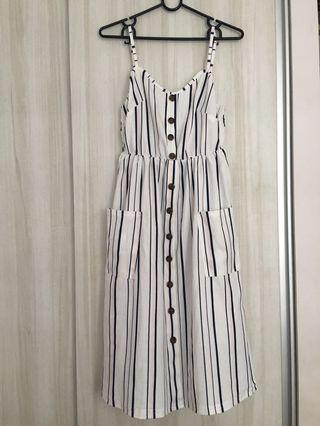 Striped midi button Dress #ENDGAMEyourEXCESS