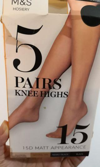 Knee high stockings (natural tan - 4 pairs NEW)
