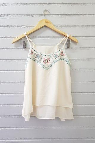 Off White Cami Top