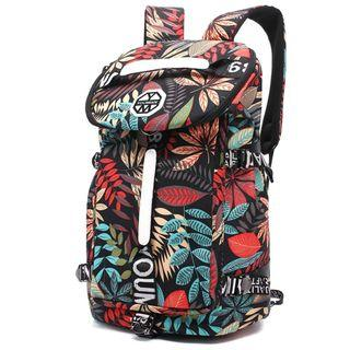 Floral Red Multi Purpose Travel Backpack - New