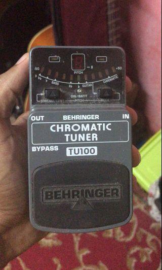 Behringer Chromatic Tuner TU-100 Guitar pedal effect