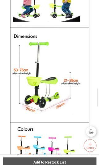 🚚 Greenkids scooter bicycle skateboard