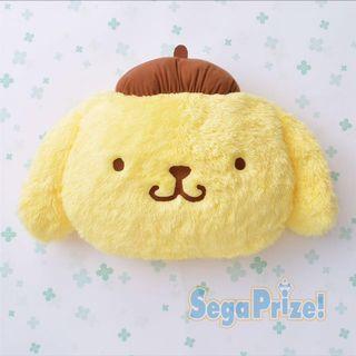 日本景物 正品 Sanrio Pom Pom Purim 毛毛布甸狗 大頭 抱枕 Cushion