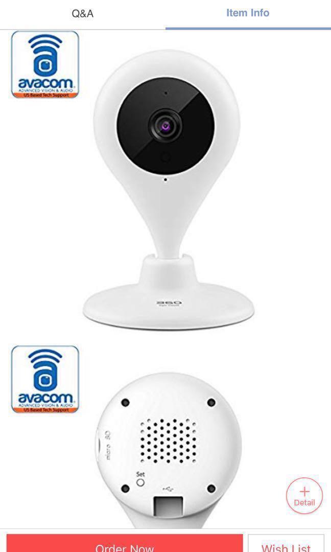 360 Smart Camera 720p Model:D603