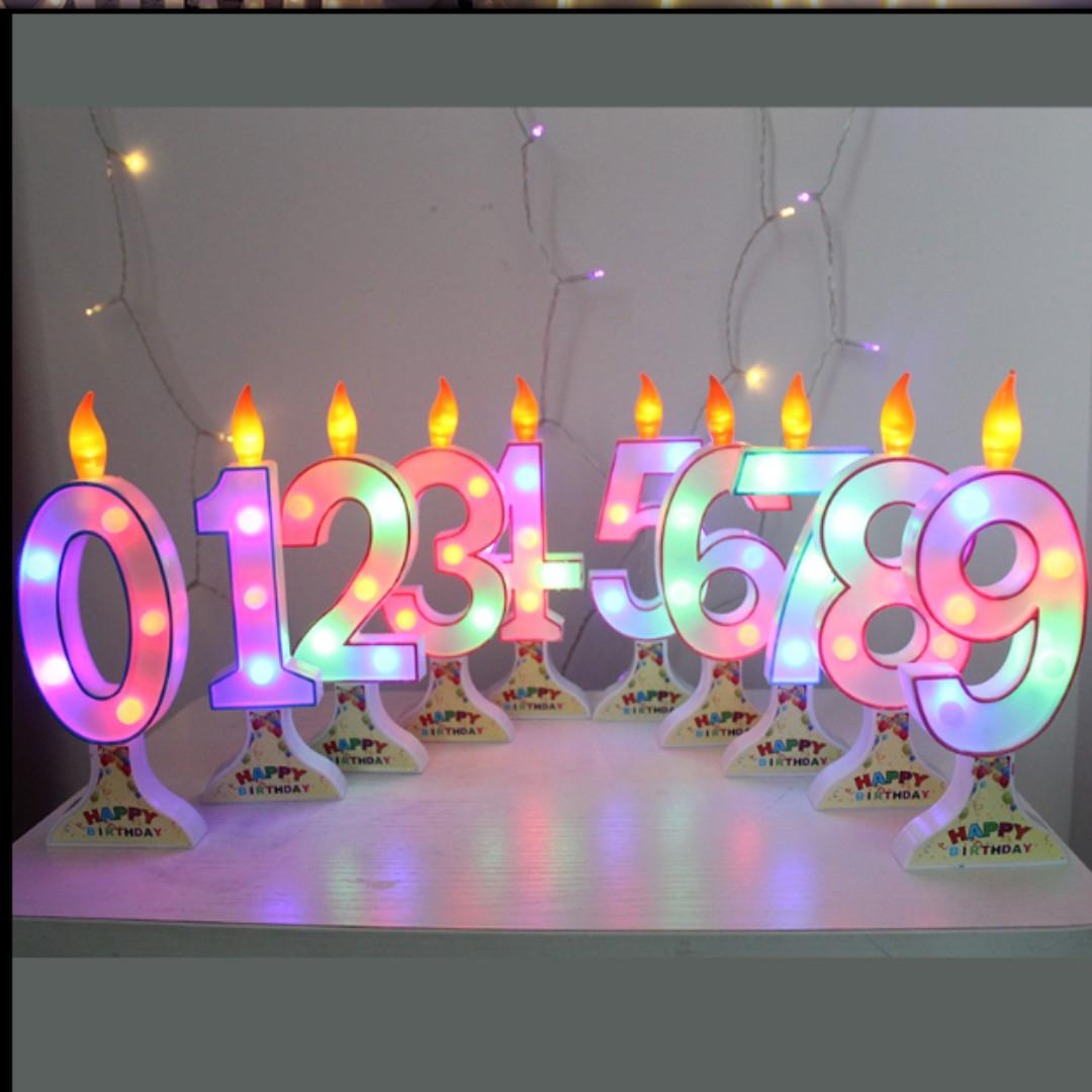 3D LED Letters Candles/ Cake Topper (Rental)