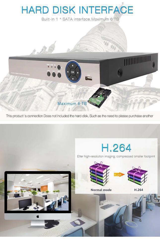 4K 5MP CCTV Installation+Setup/Configuration Camera Package by 7-STAR* -  2/4/8/16CH Hybrid XVR/DVR/NVR Recorder + 5 Megapixel 2592x1920 Dome/Bullet