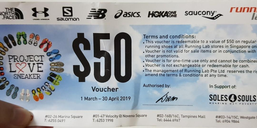 $50 Running Lab Voucher selling for $30