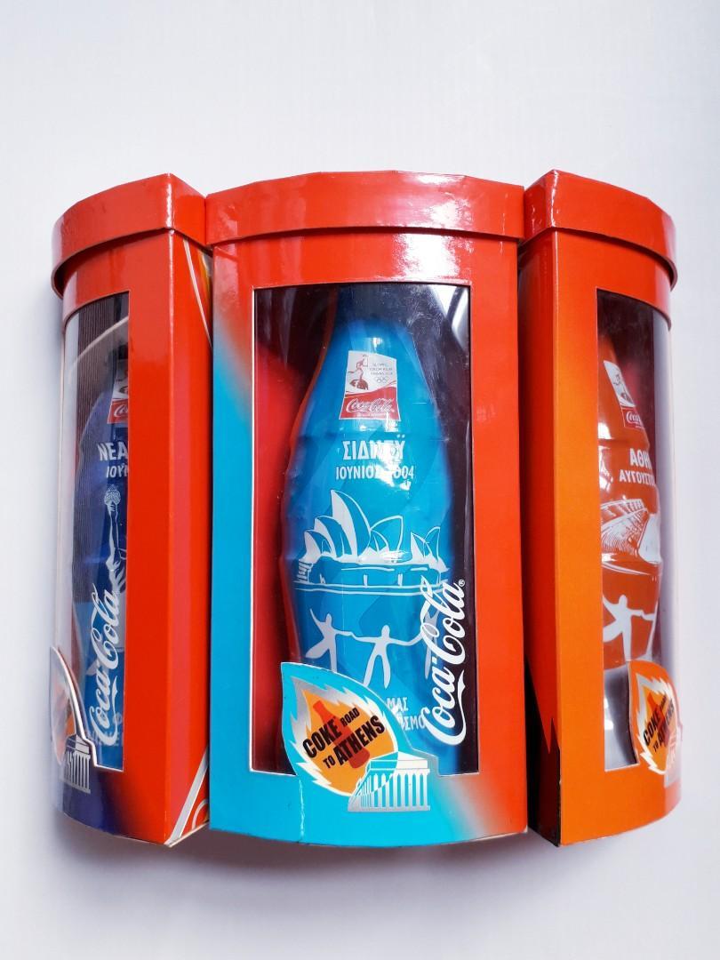 可口可樂 2004年 雅典奧運 紀念樽 1套5款