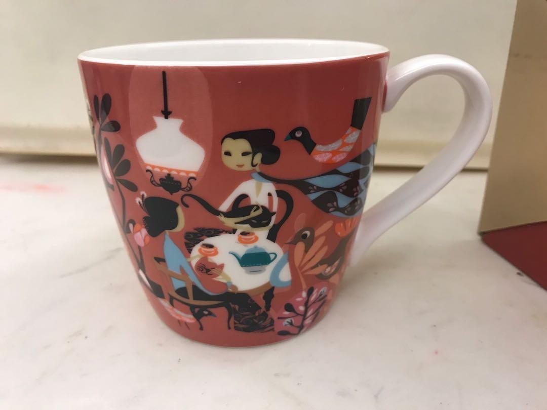印尼圖案 有耳杯 9cm 高 Mug bought from Indonesia brand new