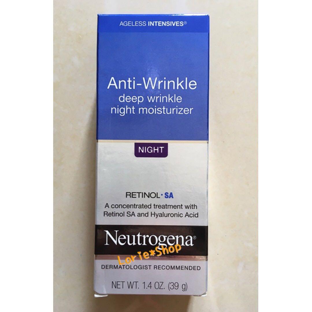 美國露得清 抗皺晚霜 Neutrogena Anti-Wrinkle Night Moisturizer