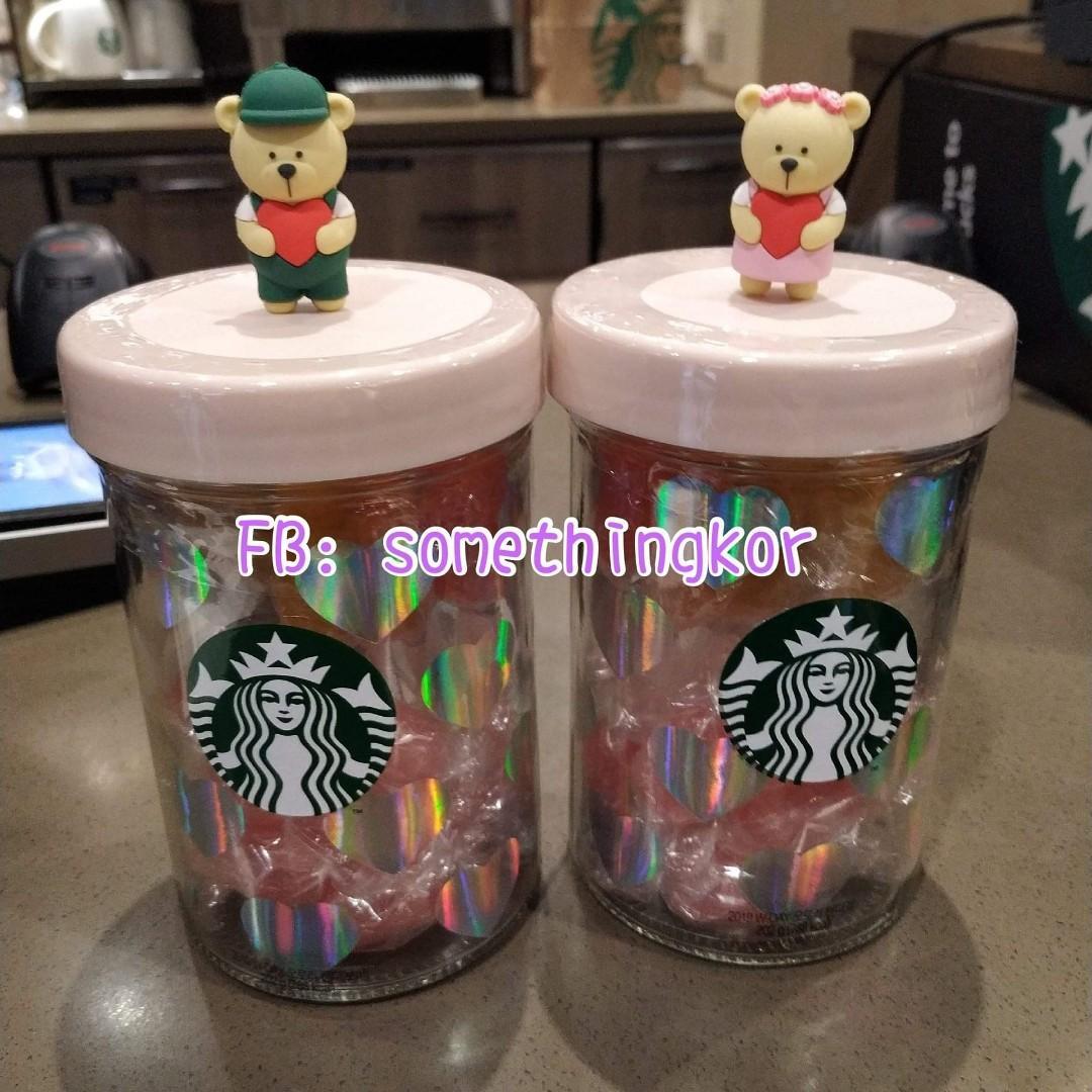 現貨🧡韓國 Korea Starbucks 2019 白色情人節糖果樽