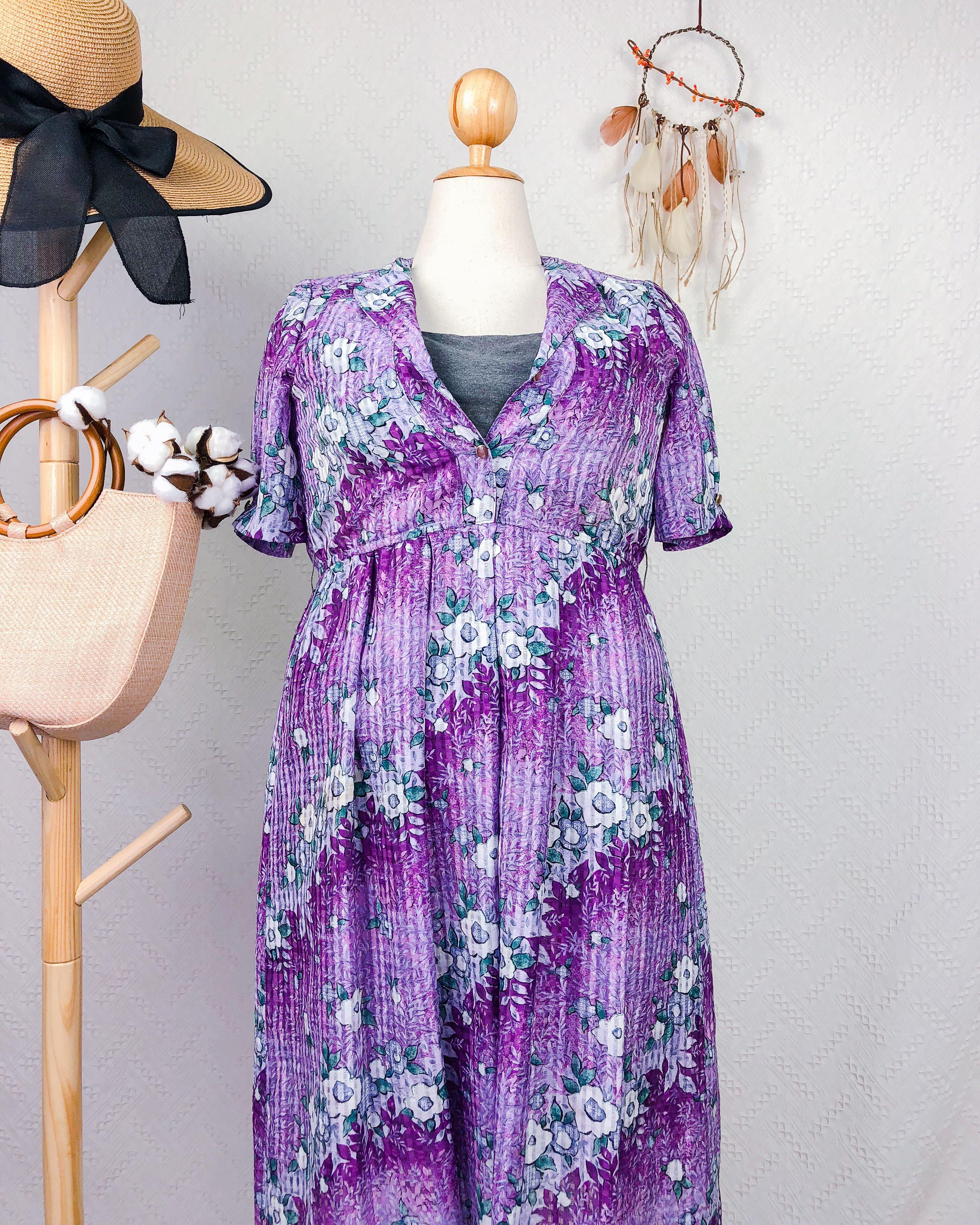 a76a82a7c19 🍿 PLUS SIZE Vintage Midi Dress DR185