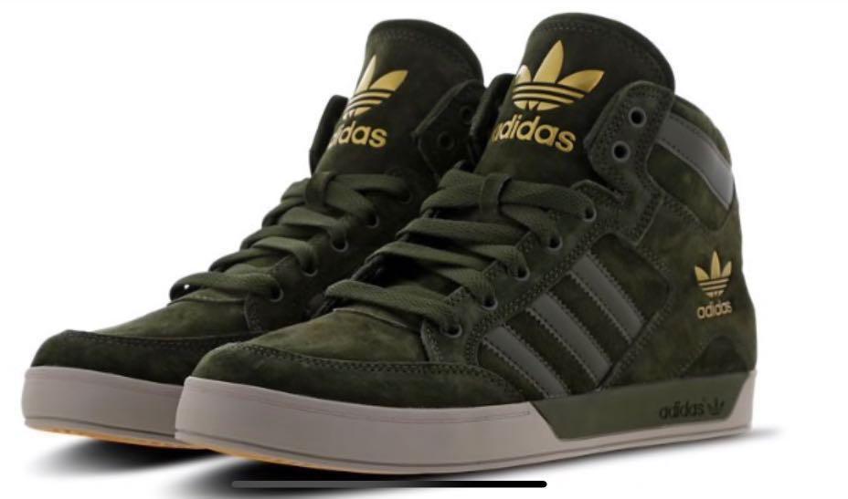 ADIDAS ORIGINALS MEN'S HARD COURT HI II Red White Shoes UK 8.5 US 9 EU 42 23