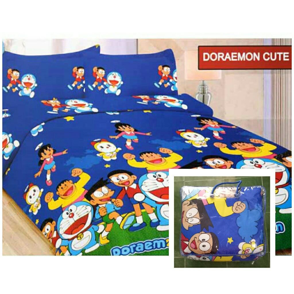 Bedcover Bonita Ukuran 180x200 Motif Doraemon Cute