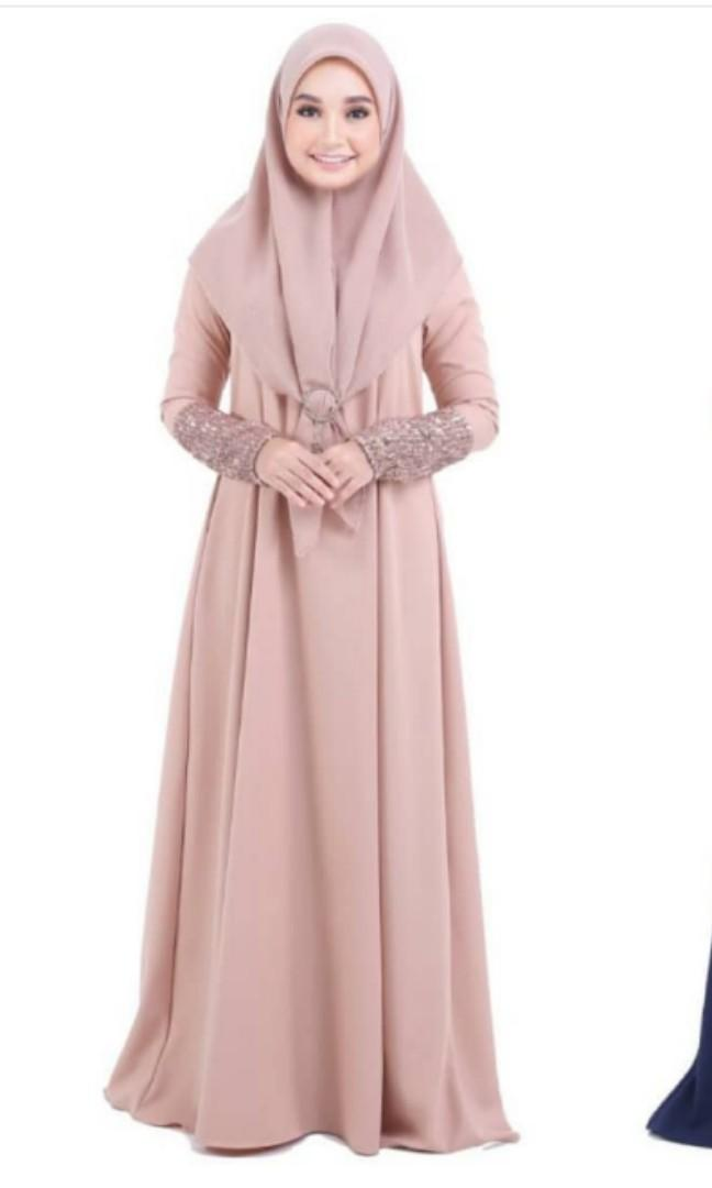 Bella Ammara Tiara Jubah Rose Gold  & navy blue XL