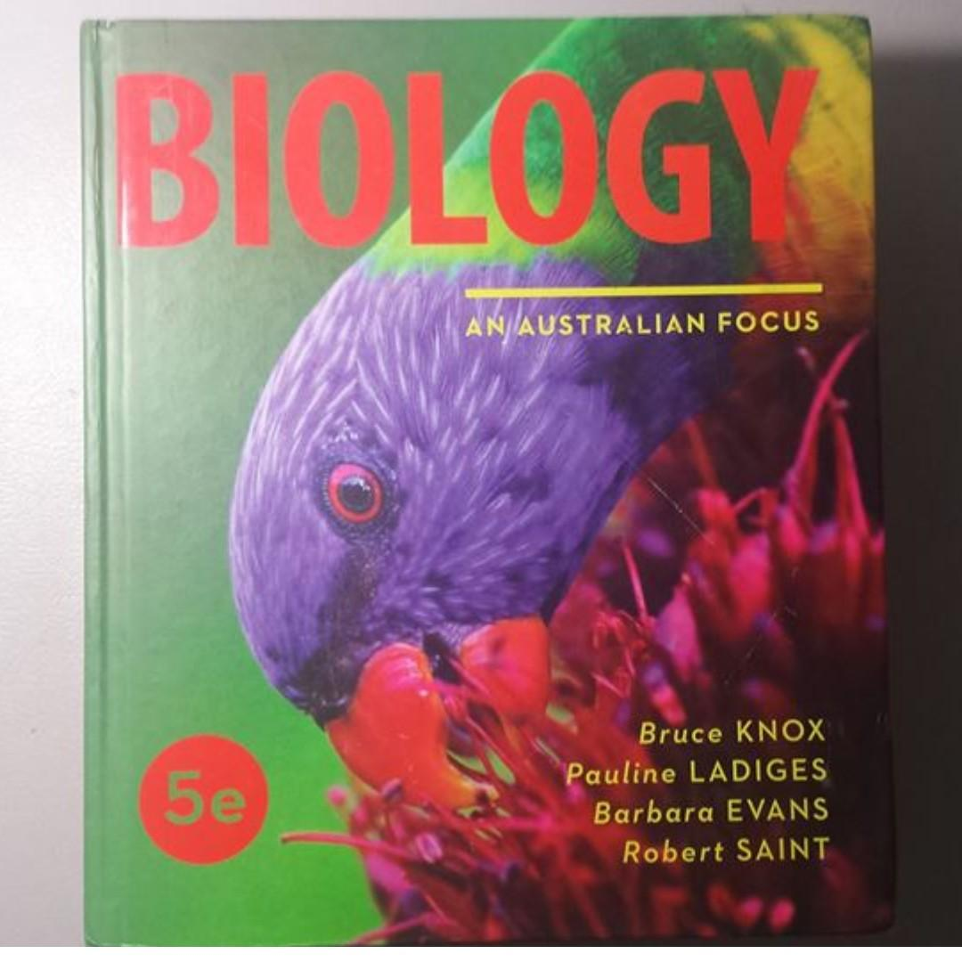 Biology: An Australian Focus 5th Edition Hardcover Textbook (5e) (Like NEW)