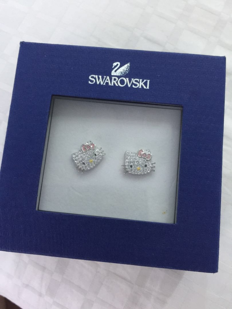 f3ef28288 Brand new Swarovski Hello Kitty Earrings, Women's Fashion ...
