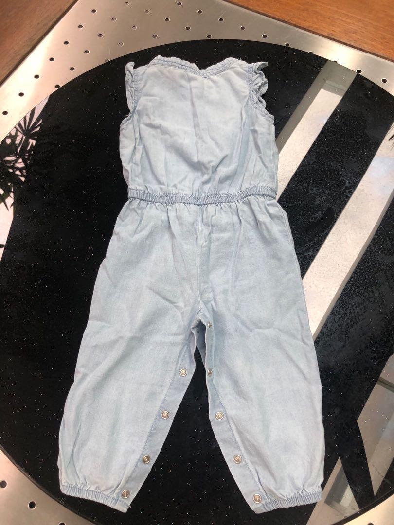 Carter's Baby Girl Sleeveless Long Onesie (Size 12 mths)