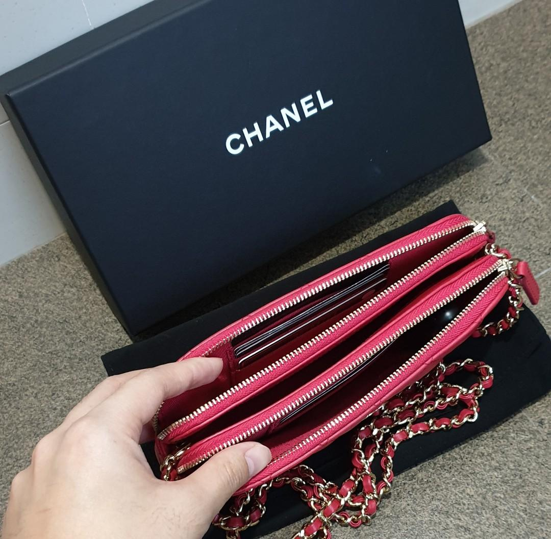 Chanel Wallet On Chain Double Zip Chain Shoulder Bag