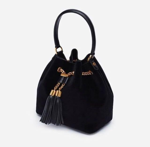 Charles and Keith Suede Bucket
