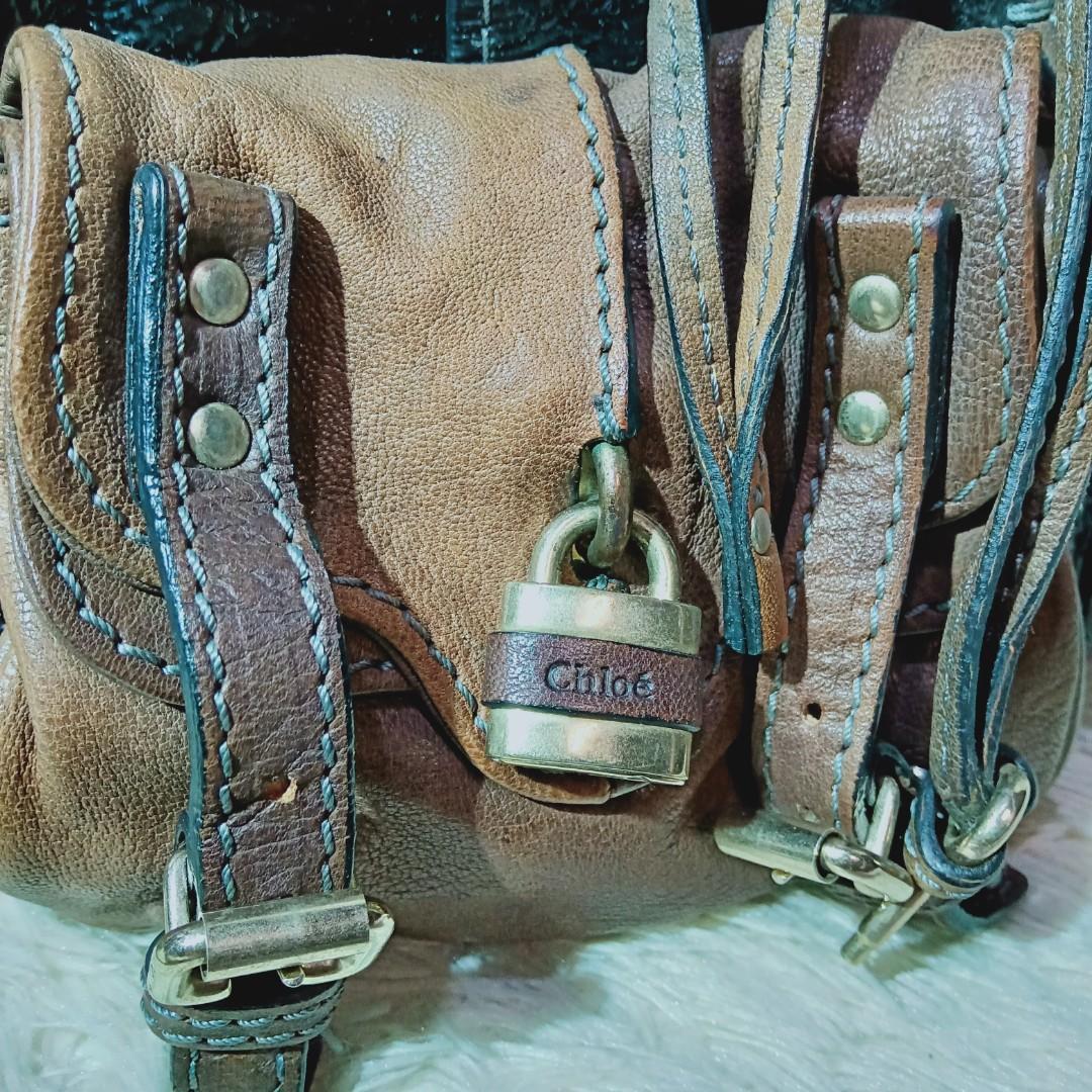 Chloe Original Women's Bag Workwear Made In Italy