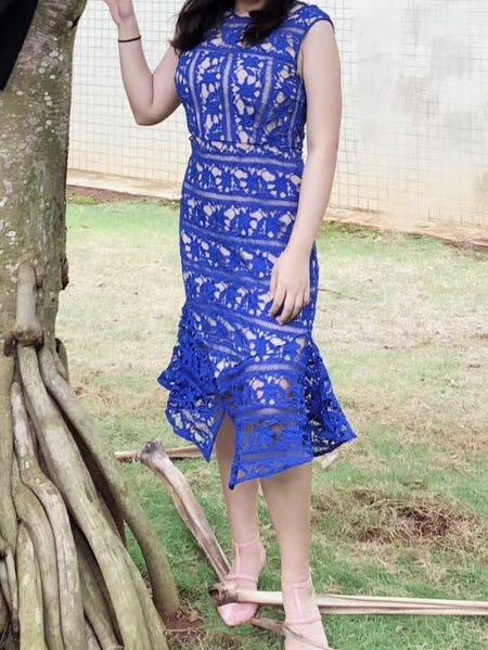Cooper st Blue Midi Dress Size 10
