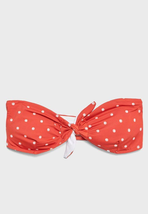 Cotton On Red Polka Dot Bikini Set