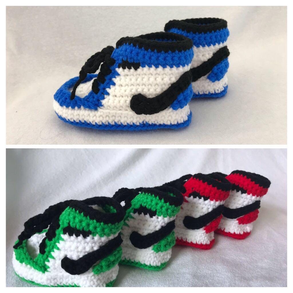 05447a8ed17ea Crochet Nike Inspired Baby Sports Shoes