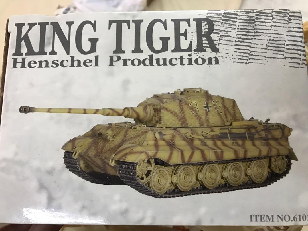 Dragon Armor 61011 1:35 scale King Tiger Tank Henscshel Production ready  built